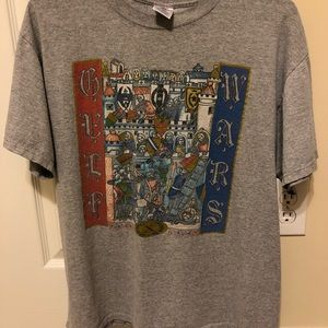 Gulf wars medieval themed T-shirt